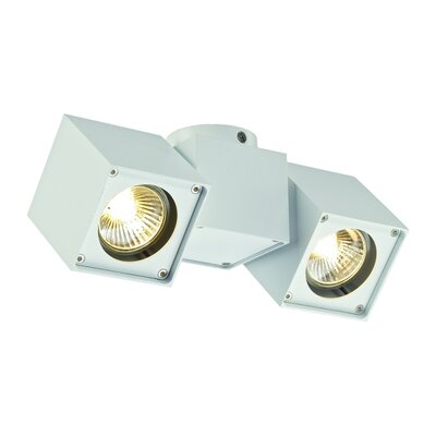 Altra Dice 2-Light Semi Flush Mount Finish: White