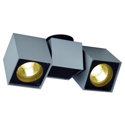 Altra Dice 2-Light Semi Flush Mount Finish: Silver Gray/Black