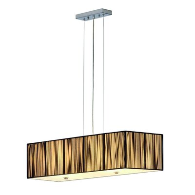 Lasson 4-Light Pendant Shade Color: Black