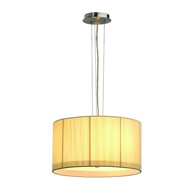 Lasson 3-Light Drum Pendant Shade Color: Beige