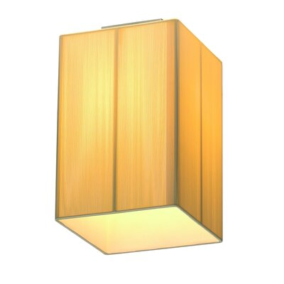 Dever 1-Light Flush Mount Shade Color: Beige