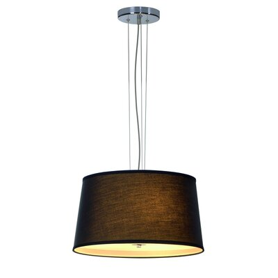 Corda 3-Light Drum Pendant Shade Color: Black