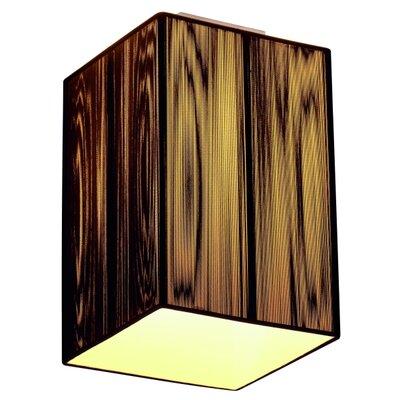 Lasson 1-Light Flush Mount Shade Color: Black