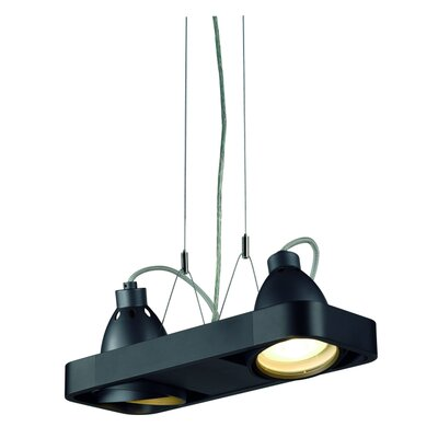 Aixlight R 2-Light Kitchen Island Pendant Finish: Black