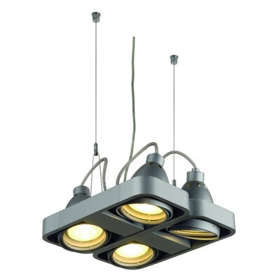 Aixlight R 4-Light Kitchen Island Pendant Finish: Silver Gray