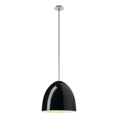 Para Cone 40 115 1-Light Mini Pendant Shade Color: Black