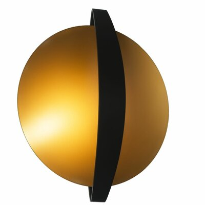 Vidaurri 1-Light LED Flush Mount Finish: Black/Gold
