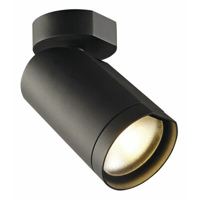 Bilas Spot Single 1-Light LED Spotlight Finish: Black