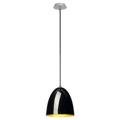 Balam 1-Light LED Mini Pendant Finish: Black/Gold