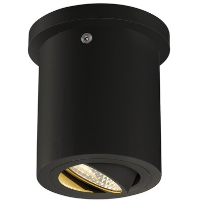 Richards Contemporary 1-Light LED Flush Mount Fixture Finish: Black