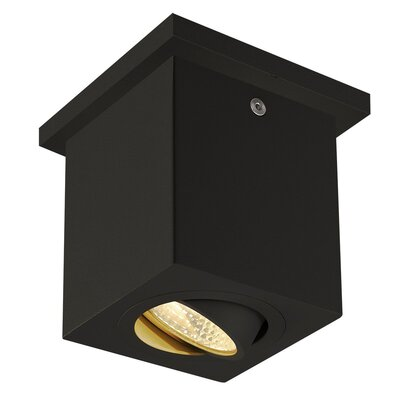 Richards 1-Light LED Flush Mount Fixture Finish: Black
