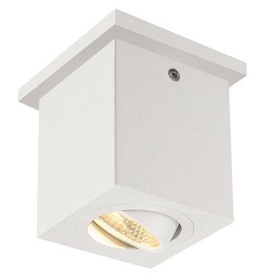 Richards 1-Light LED Flush Mount Fixture Finish: White