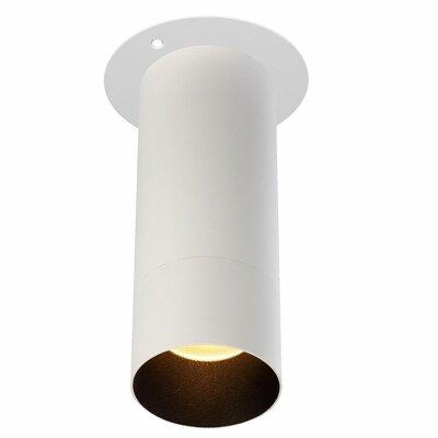 Vickery 1-Light LED Flush Mount Fixture Finish: White