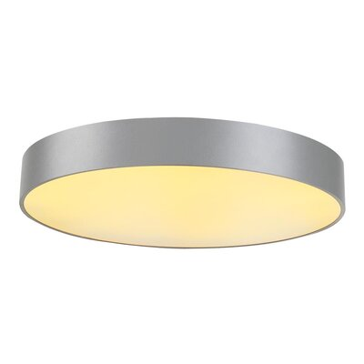 Rhymer Contemporary 1-Light LED Flush Mount Fixture Finish: Silver Gray, Size: 5.04