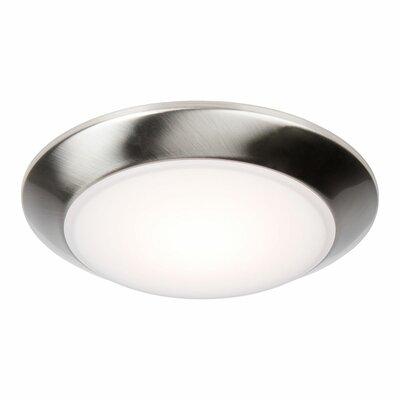 Brockley 1-Light LED Flush Mount Fixture Finish: Steel Nickel, Bulb Color Temperature: 3000K
