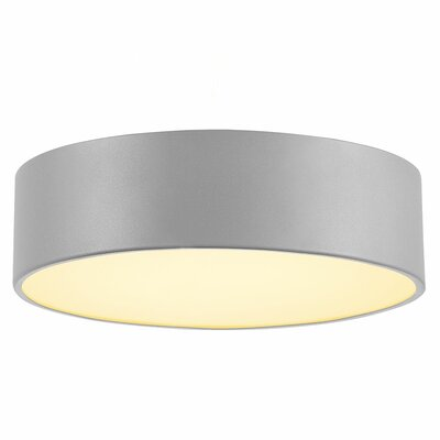 Rhymer 1-Light LED Wall Mount Fixture Finish: Silver Gray, Size: 4.5 H x 15 W x 15 D