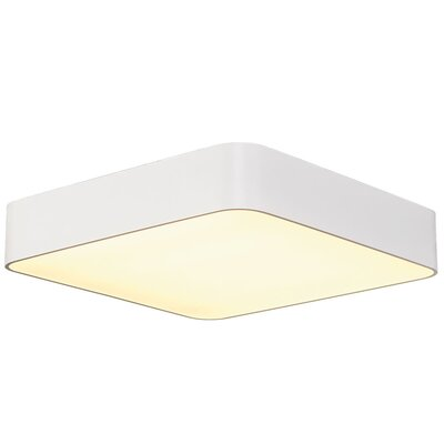 Rhymer 1-Light LED Flush Mount Fixture Finish: White
