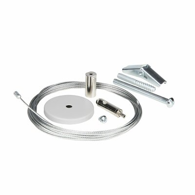 Non Feed-In Canopy Kit for 0.5-Circuit Track and Cable Finish: White