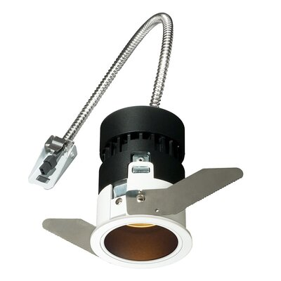 Mini Tria Recessed Housing with Round Trim Finish: Black, Insulation Type: Non-IC Rated For Non-Insulated Ceilings, Flood Beam Angle: 40 Degrees