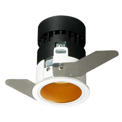 Mini Tria Recessed Housing with Round Trim Finish: Gold, Insulation Type: IC Rated For Insulated Ceilings, Flood Beam Angle: 25 Degrees
