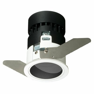 Mini Tria Wall Wash Recessed Housing with Round Trim Finish: Black, Insulation Type: IC Rated For Insulated Ceilings, Color Temperature: 3000 Kelvin