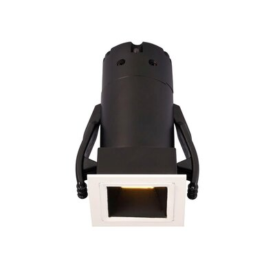 Micro Tria Recessed Housing with Square Trim Finish: Black, Insulation Type: Non-IC Rated For Non-Insulated Ceilings, Flood Beam Angle: 25 Degrees
