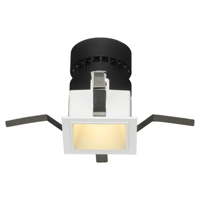 Mini Tria Recessed Housing with Square Trim Finish: White, Insulation Type: Non-IC Rated For Non-Insulated Ceilings, Flood Beam Angle: 25 Degrees