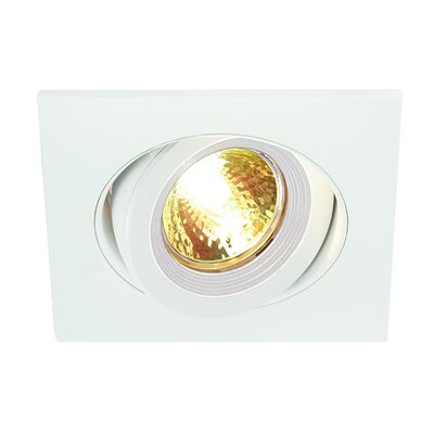 Lens 4.35 Recessed Trim Finish: Matte White