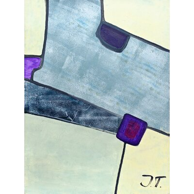 Purple Square by Josefa Tscharmann Original Painting on Wrapped Canvas Size: 60