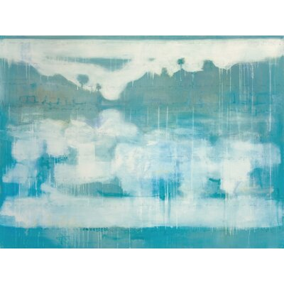 Blue Placid Lake #2 by Julie Montgomery Painting on Wrapped Canvas AE281-2436