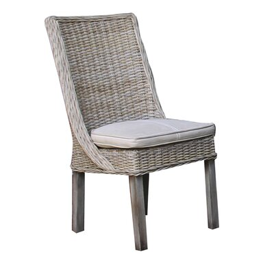 Exuma Side Chair with Cushion in Seaworthy Blue