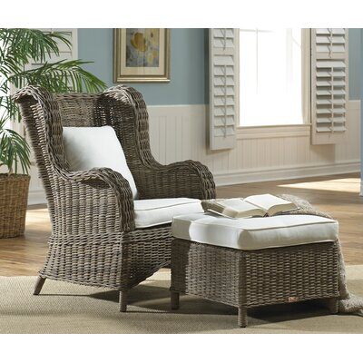 Exuma Wing back Chair and Ottoman