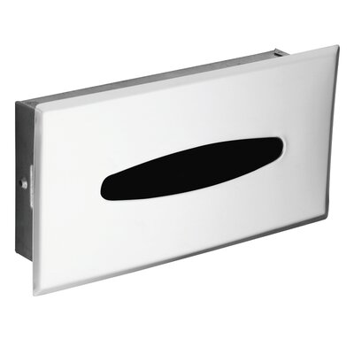 Hotel/Motel Recessed Facial Tissue Box in Polished Chrome