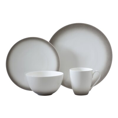Aladdin 4 Piece Place Setting Color: Gray