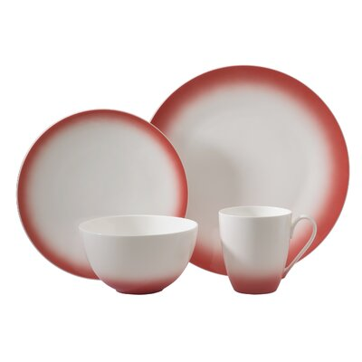 Aladdin 4 Piece Place Setting Color: Red