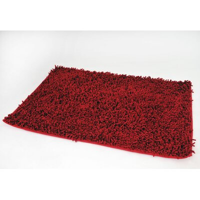 Cotton Chenille Mat Color: Dark Red, Size: 32 H x 20 W