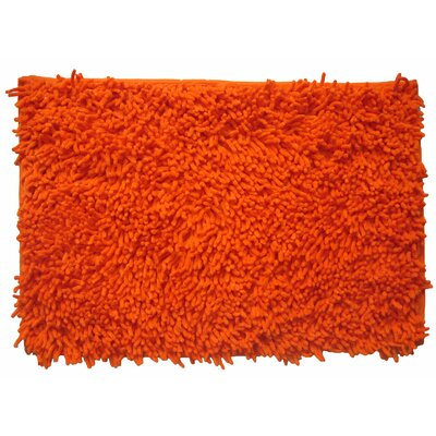 Cotton Chenille Mat Size: 32 H x 20 W, Color: Orange