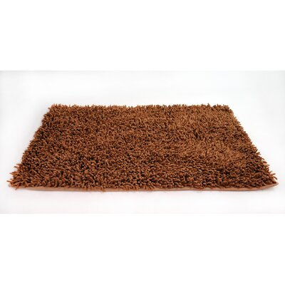 Cotton Chenille Rug Size: 60 H x 36 W, Color: Dark Red