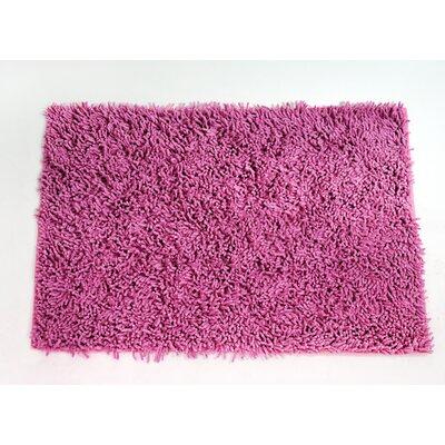 Cotton Chenille Mat Size: 24 H x 16 W, Color: Pink
