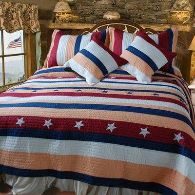 DaDa Bedding Patriotic Quilt Set - Size: King