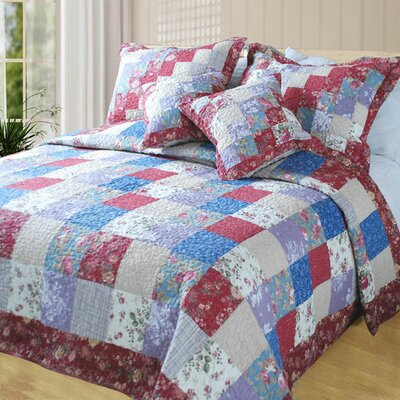 Forest 5 Piece Reversible Quilt Set Size: Queen/Full