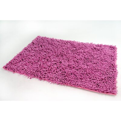 Cotton Chenille Rug Color: Pink, Size: 48 H x 31 W