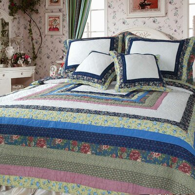 Spring Patio Quilt Set Size: King