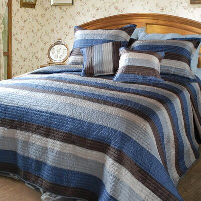 Stripe Satiny Quilt Set Size: Twin