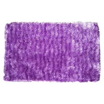 Shaggy Stripe Doormat Color: Purple