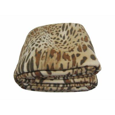 DaDa Bedding Leopard/Cheetah Polar Polyester Fleece Blanket - Size: Twin