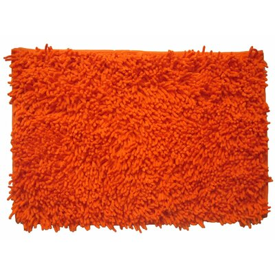 Cotton Chenille Rug Size: 36 H x 24 W, Color: Orange