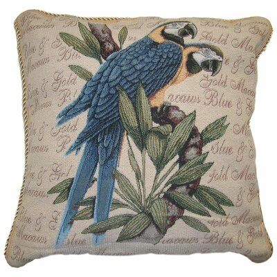 Parrot in Love Cotton Cushion Cover