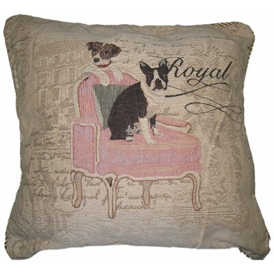 Royal Dog Woven Cushion Cover