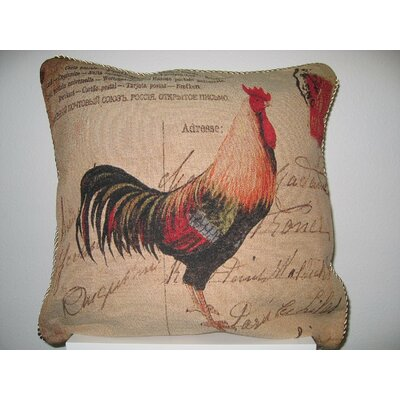 Glamorous Rooster Cotton Cushion Cover